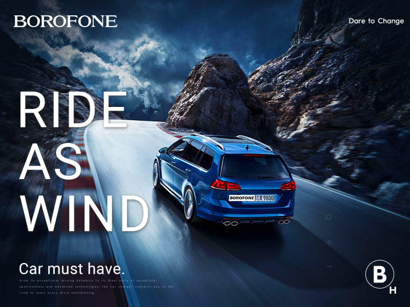 borofone news h series in car holders banner en
