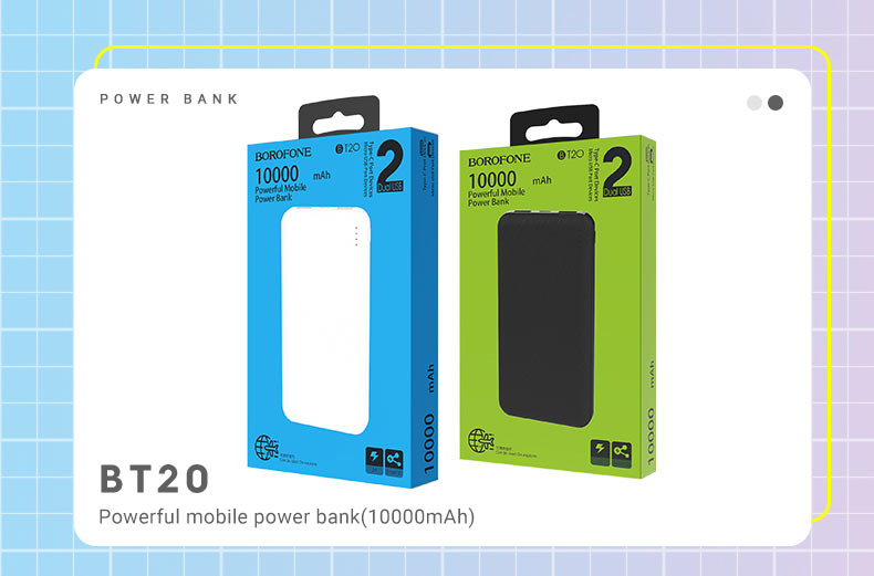 borofone news t series mobile power banks bt20 en