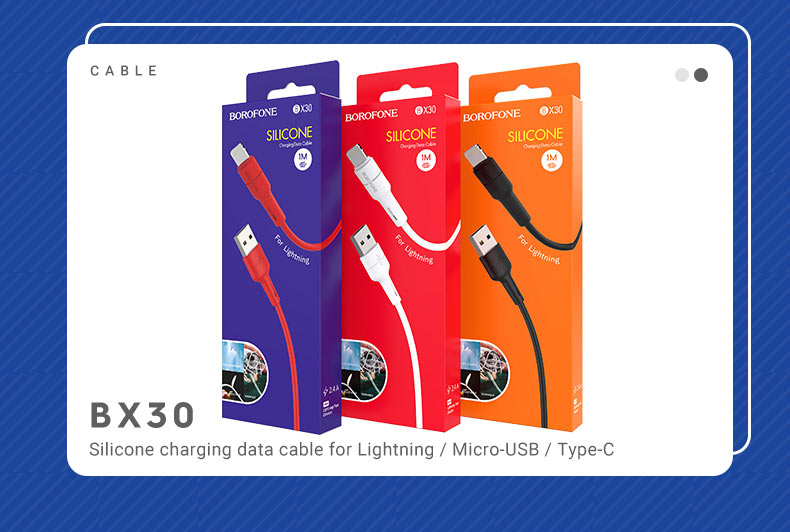 borofone news x series cables collection bx30 en