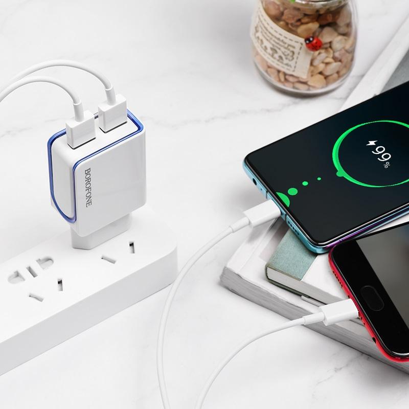 borofone ba35 brilliant dual port charger eu charging