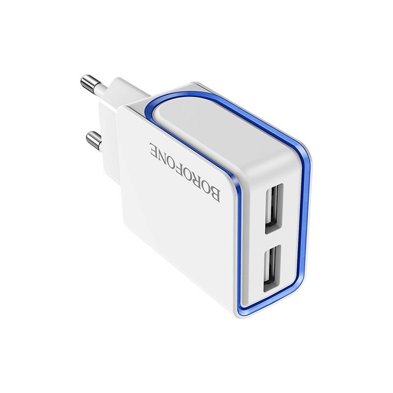 borofone ba35 brilliant dual port charger eu logo