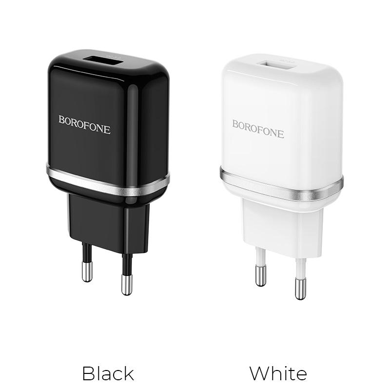 borofone ba36a high speed single port qc30 charger eu colors
