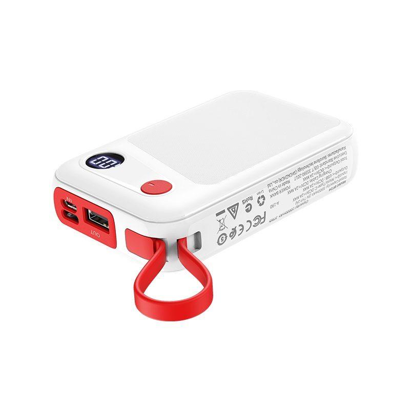 borofone bt24 quick power mobile power bank 10000mah lanyard