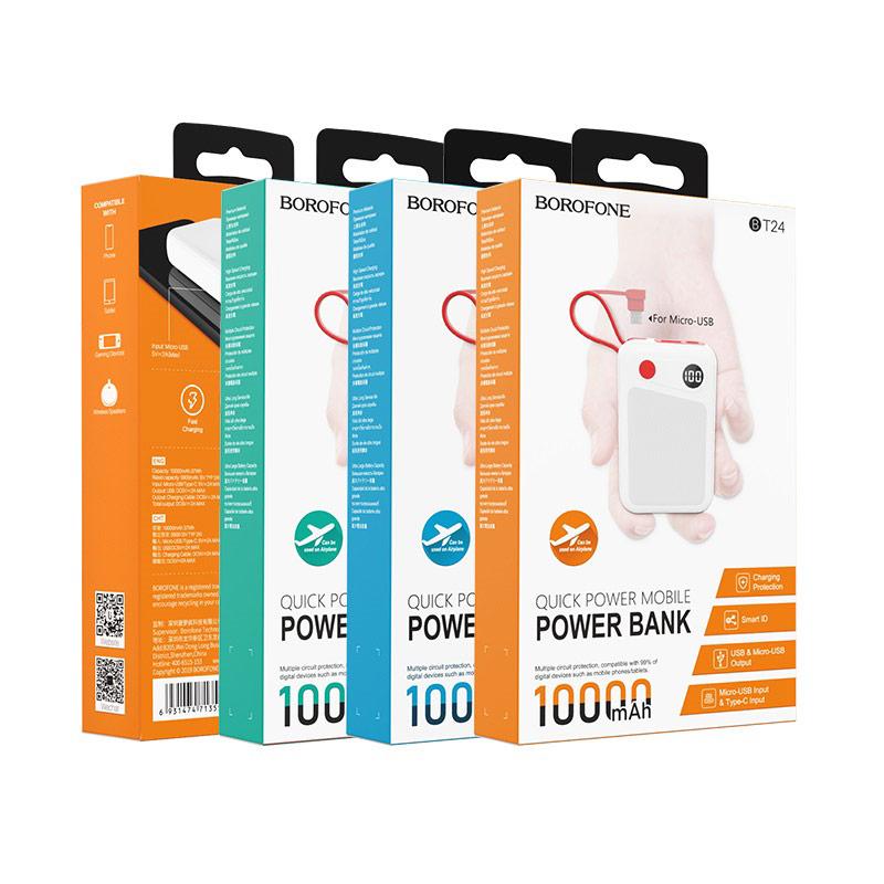 borofone bt24 quick power mobile power bank 10000mah package