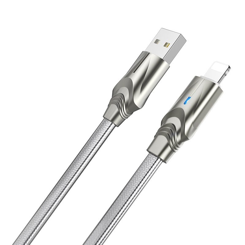 borofone bu12 synergy charging data cable for lightning flat wire