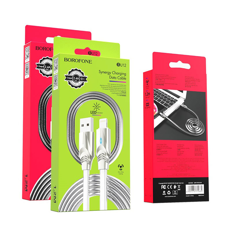borofone bu12 synergy charging data cable for lightning packages