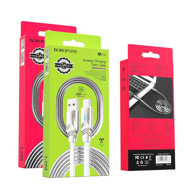 borofone bu12 synergy charging data cable for usb c packages