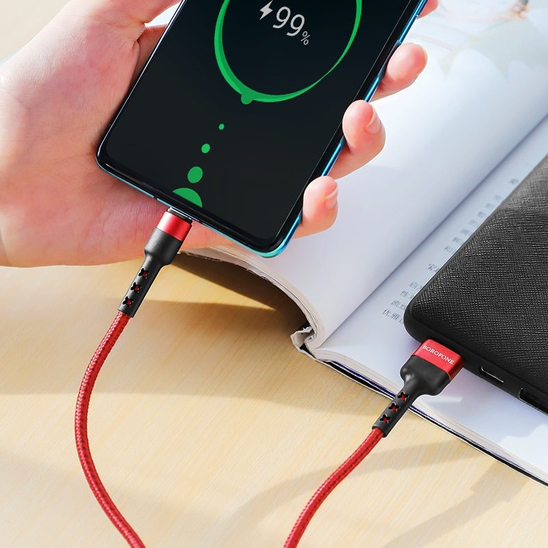 borofone bx34 advantage charging data cable for type c charger