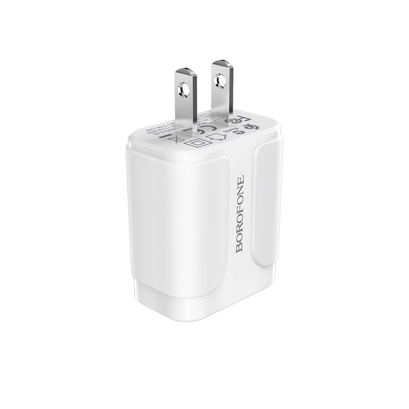 borofone ba37 speedy dual port charger us logo