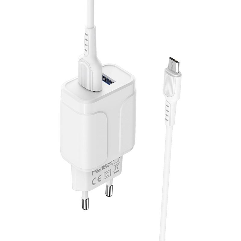 borofone ba37a speedy dual port charger eu with micro usb cable set