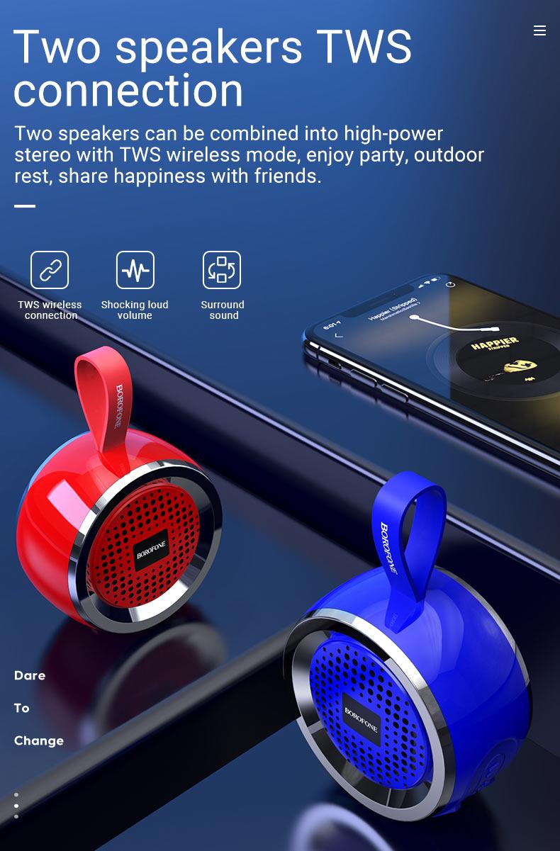 borofone br2 aurora sports wireless speaker connection en
