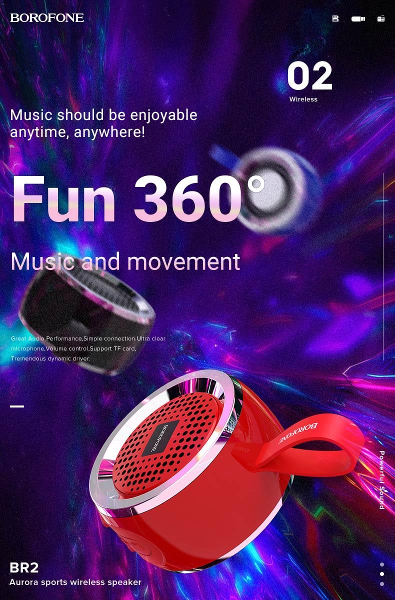 borofone br2 aurora sports wireless speaker music en