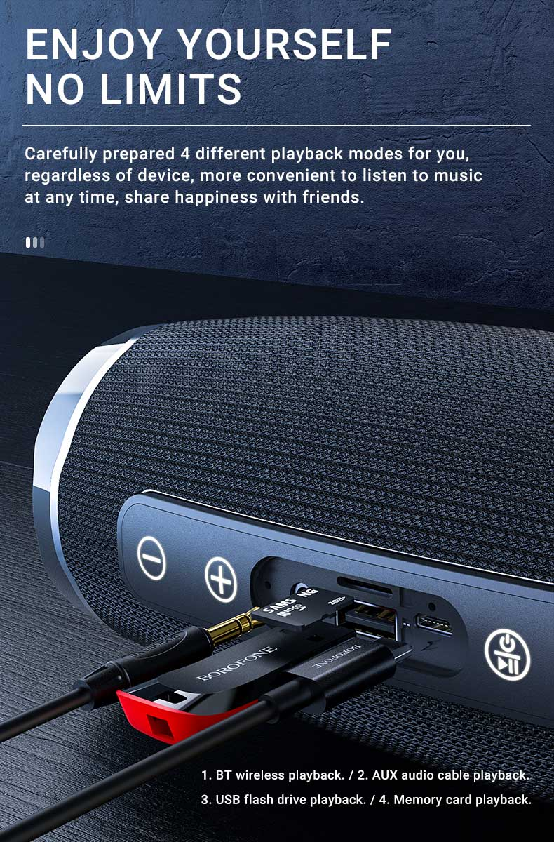 borofone br3 rich sound sports wireless speaker playback en
