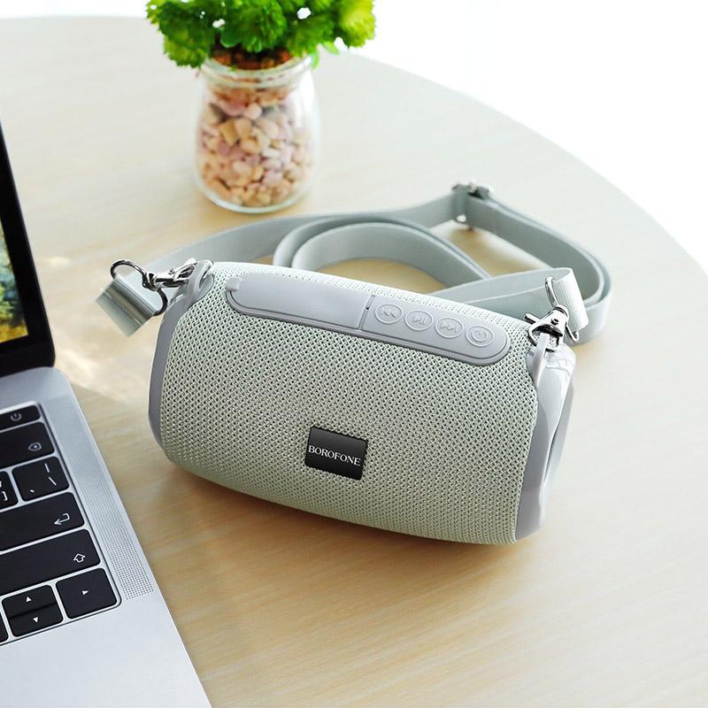 borofone br4 horizon sports wireless speaker interior grey