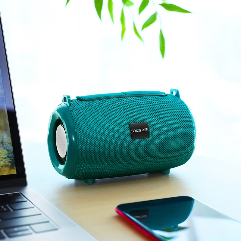 borofone br4 horizon sports wireless speaker interior peacock blue