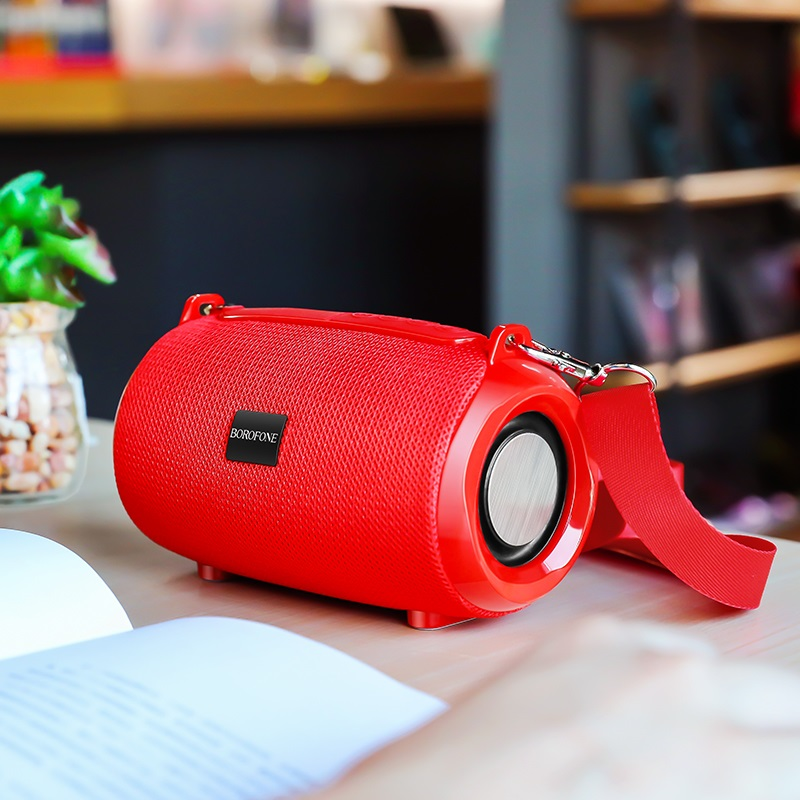 borofone br4 horizon sports wireless speaker interior red