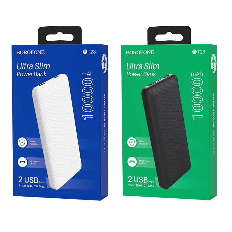 borofone bt28 beneficial mobile power bank 10000mah packages