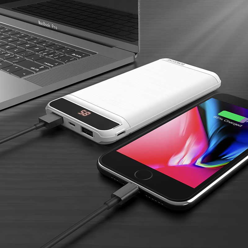 borofone bt29 vigor mobile power bank 10000mah charging