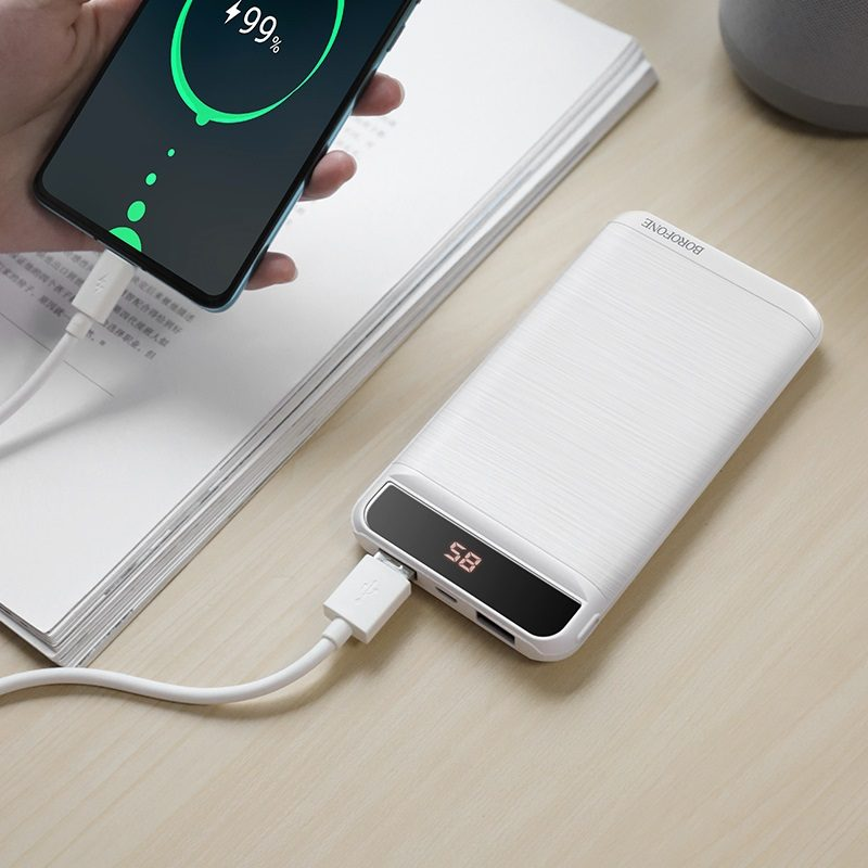 borofone bt29 vigor mobile power bank 10000mah interior