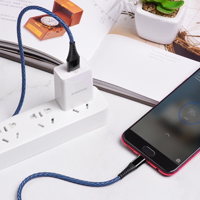 borofone bu13 craft 4a fast charging data cable micro usb charging