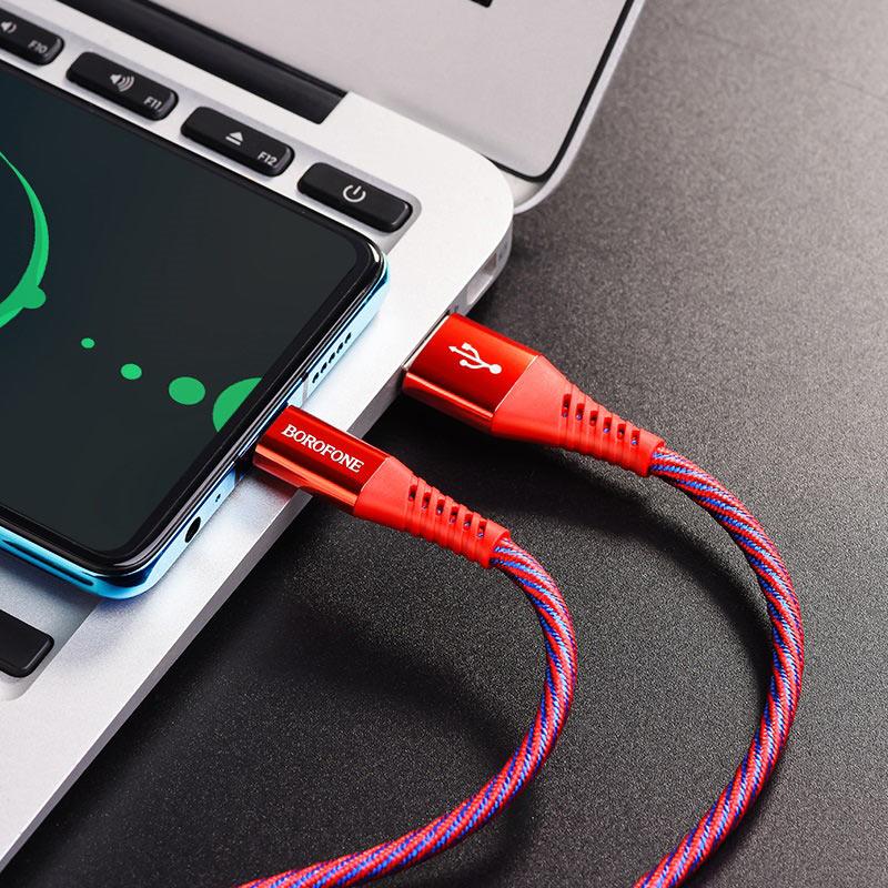 borofone bu13 craft 5a fast charging data cable usb c interior
