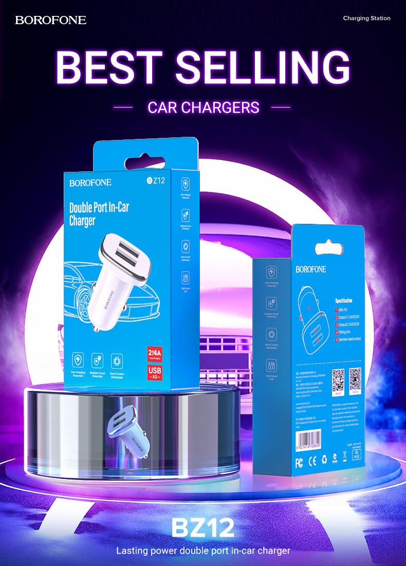 borofone news bestselling car chargers z series bz12 en
