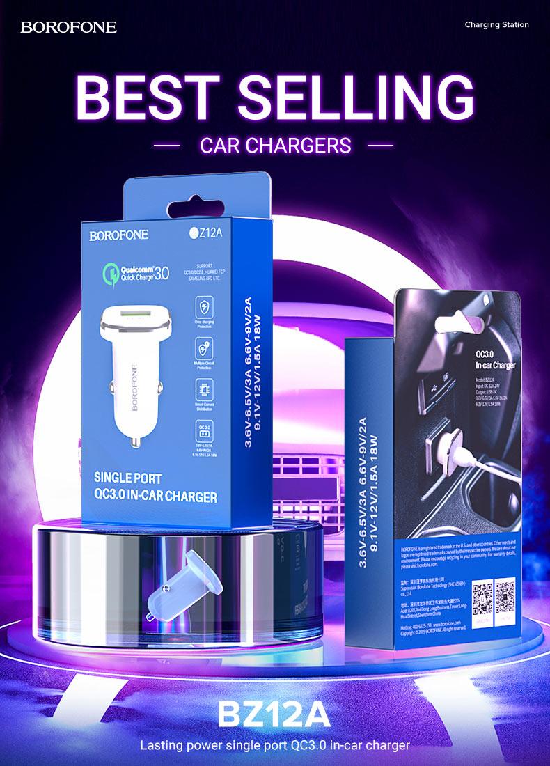 borofone news bestselling car chargers z series bz12a en