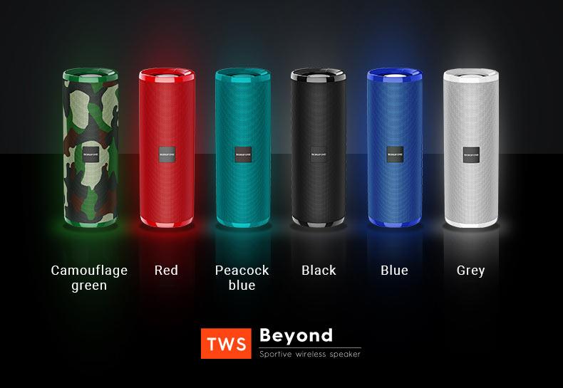 borofone news br1 beyond sportive wireless speaker colors