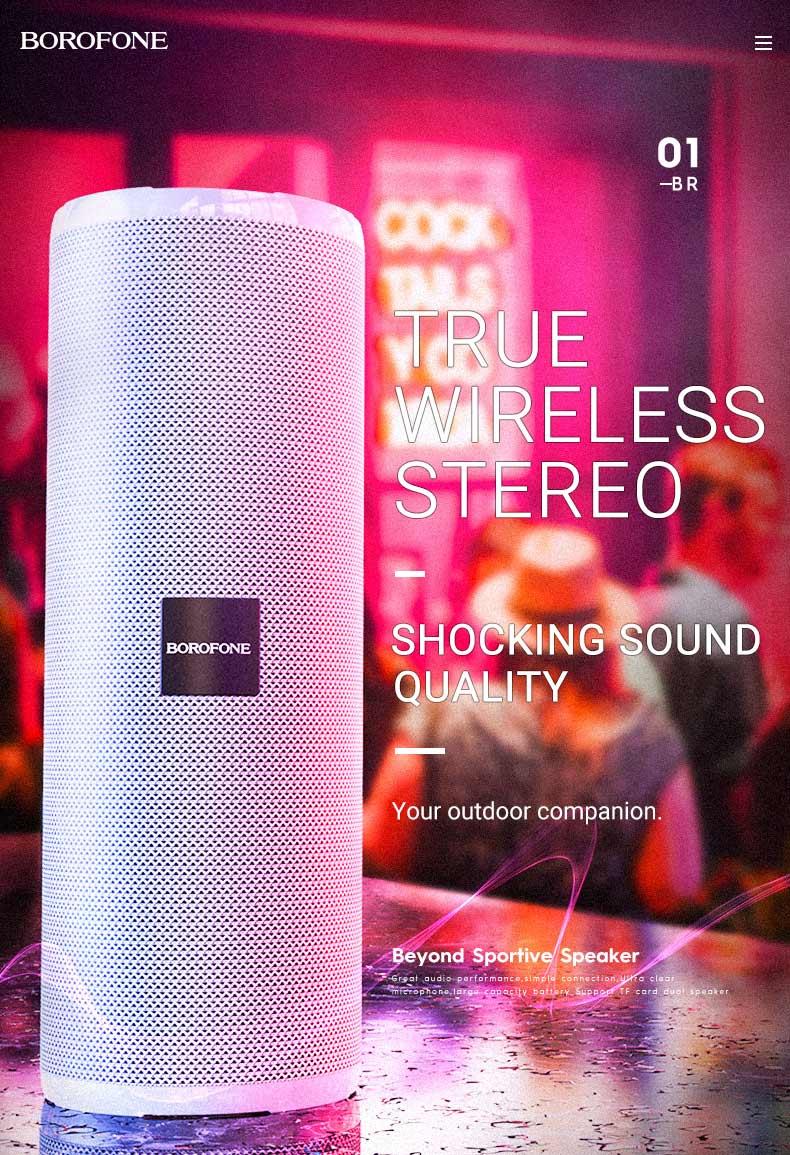 borofone news br1 beyond sportive wireless speaker sound en