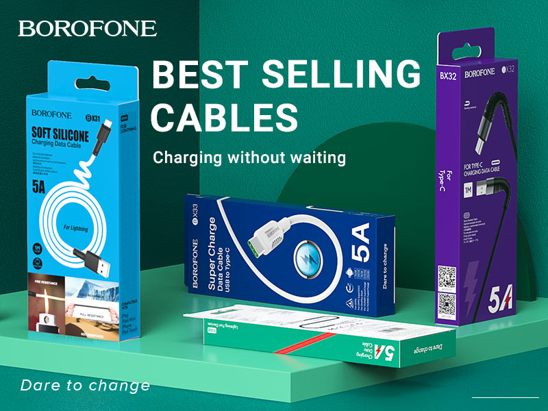 borofone news charging cables x series banner en