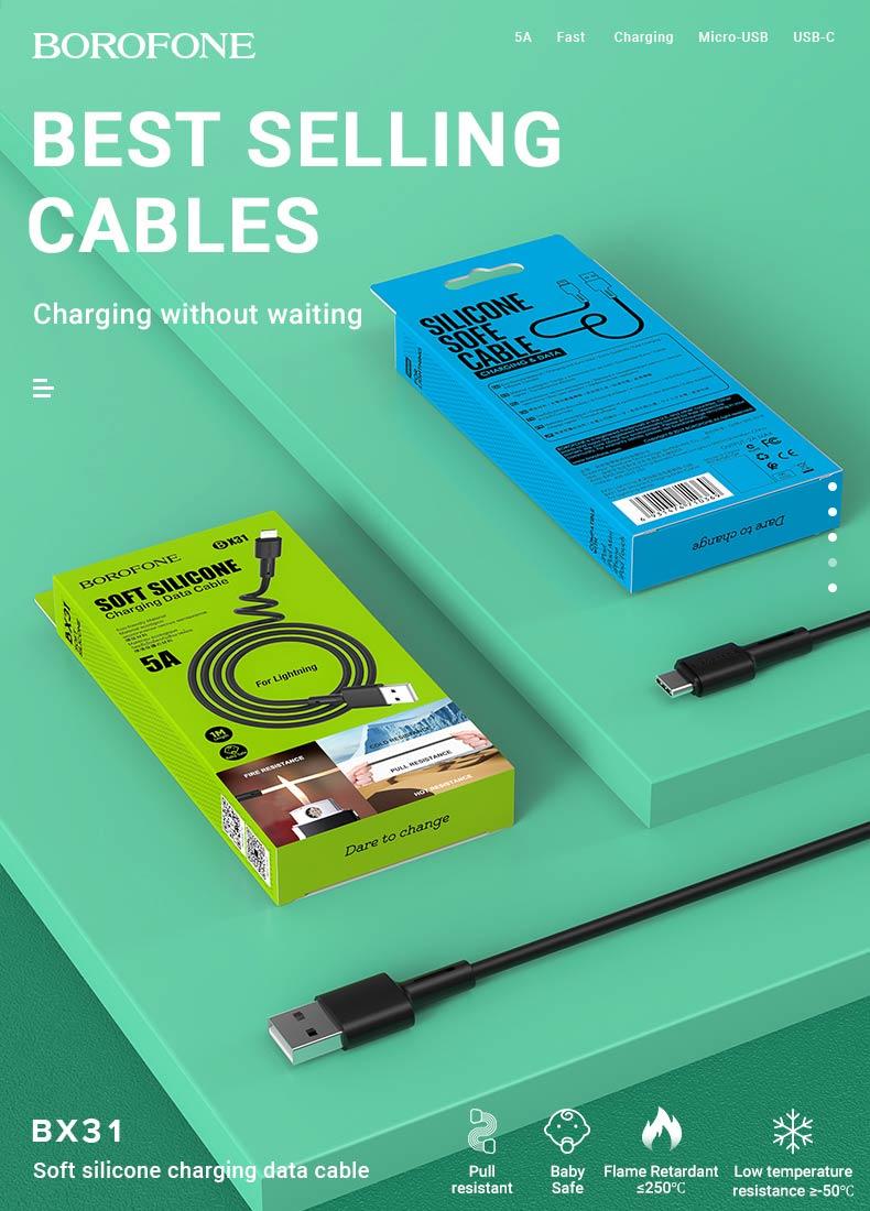 borofone news charging cables x series bx31 en