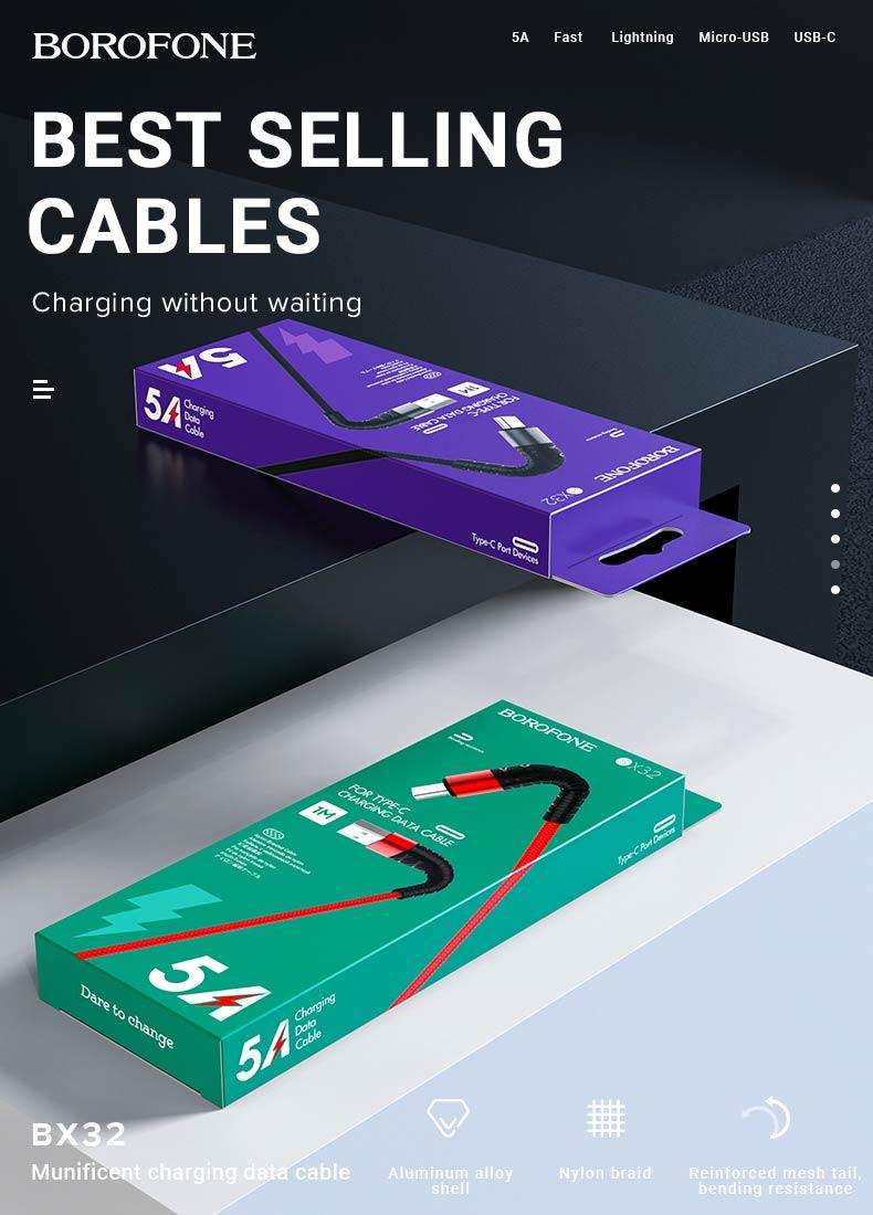 borofone news charging cables x series bx32 en
