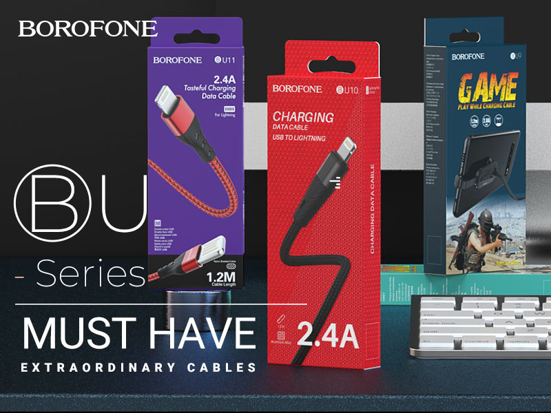 borofone news must have charging cables banner en