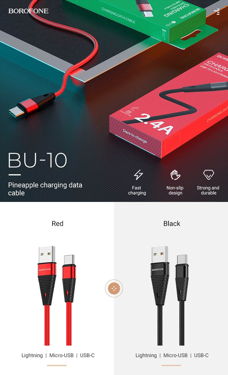 borofone news must have charging cables bu10 en