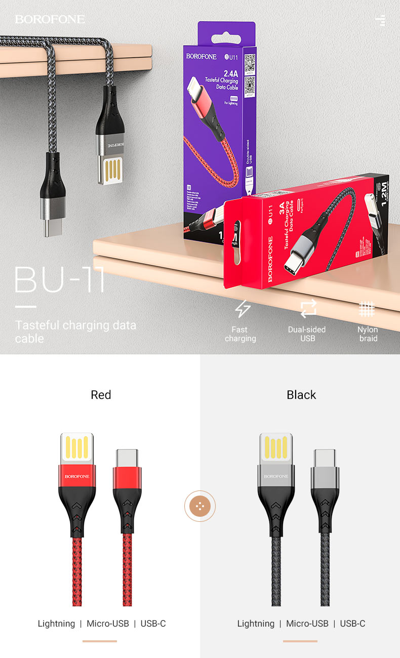 borofone news must have charging cables bu11 en