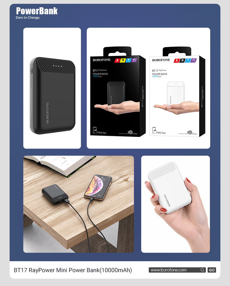 borofone news popular power banks t series bt17 en