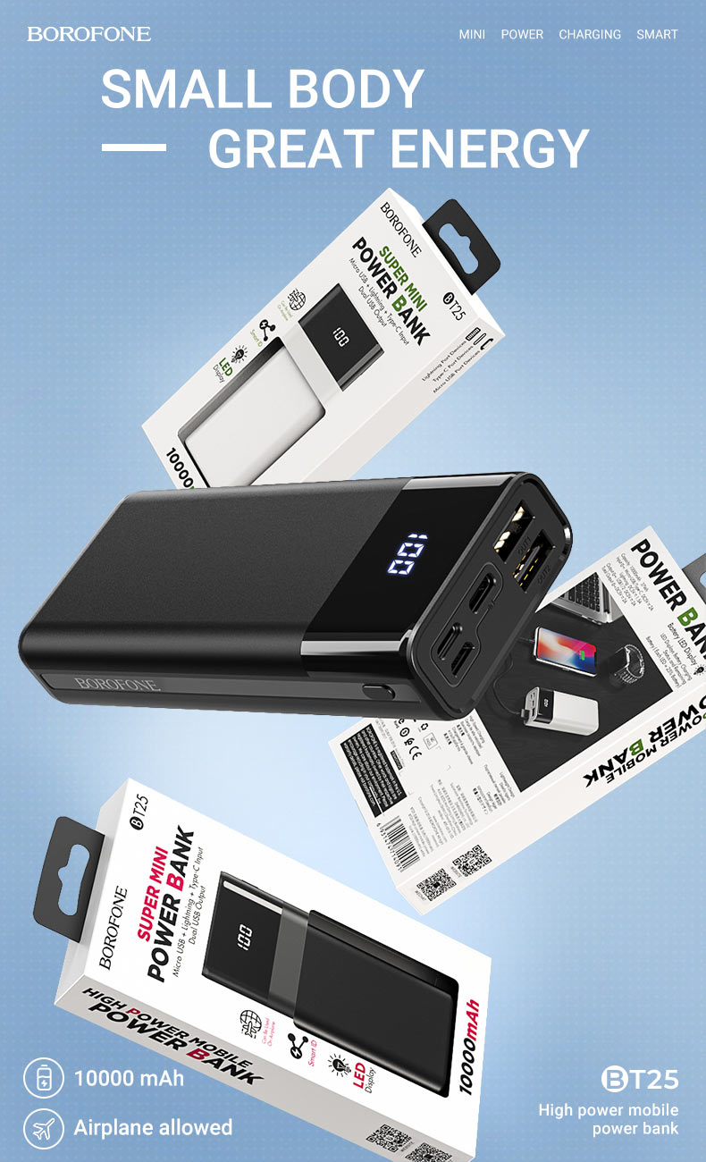 borofone news t series mobile power bank bt25 en