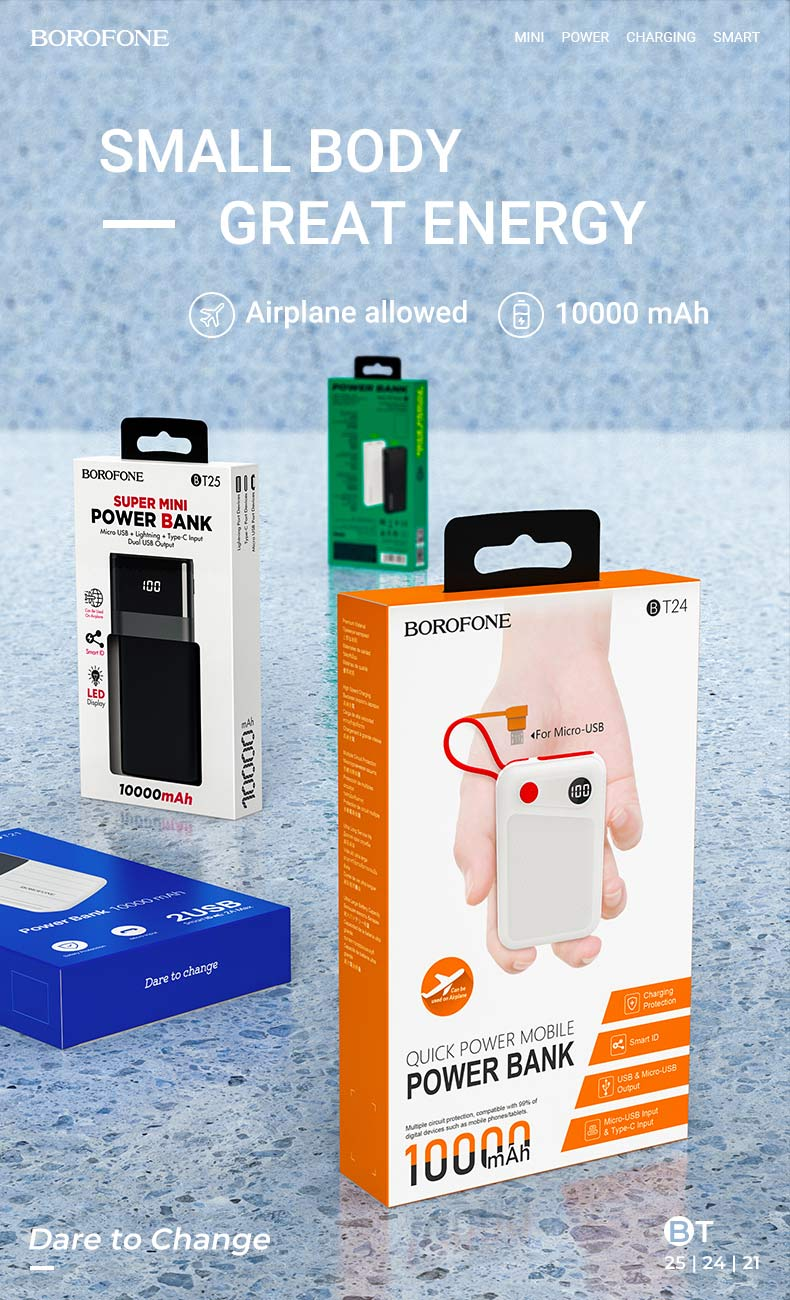 borofone news t series mobile power bank en