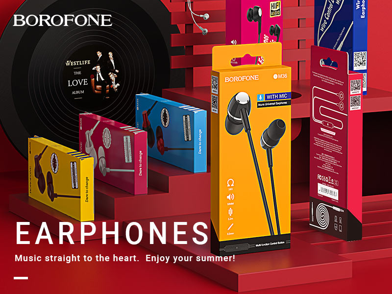 borofone news wired earphones m series banner en