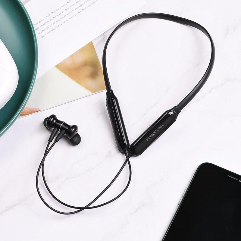 borofone be29 joyous sports wireless earphones interior black