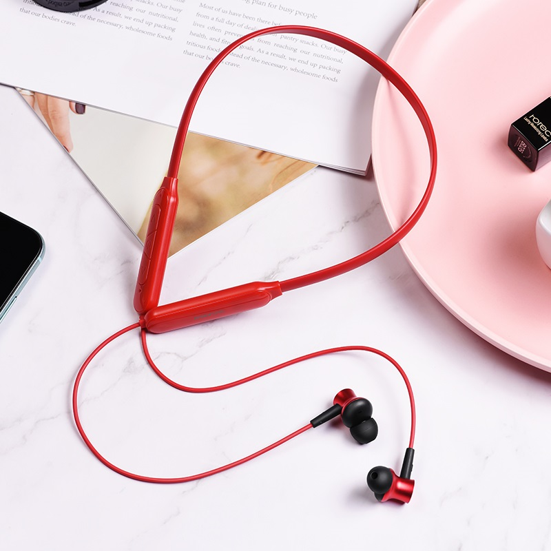 borofone be29 joyous sports wireless earphones interior red