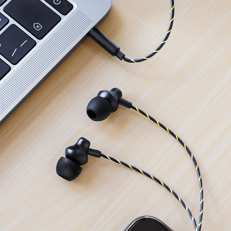 borofone bm42 sophisticated universal earphones with mic interior black