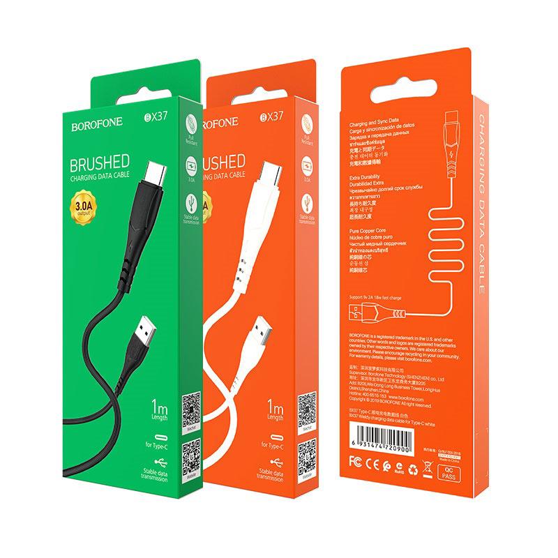 borofone bx37 wieldy кабель для зарядки и передачи данных для usb c упаковка