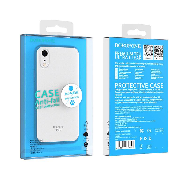 borofone ice series bi4 phone case for iphone xr package