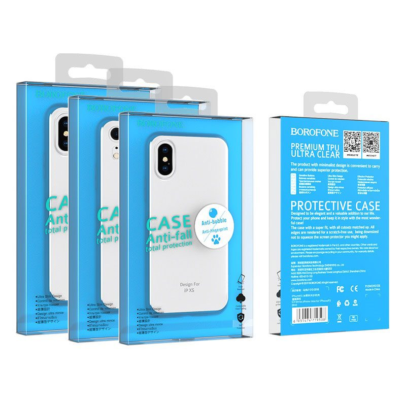 borofone ice series bi4 phone case for iphone xr xs max packages