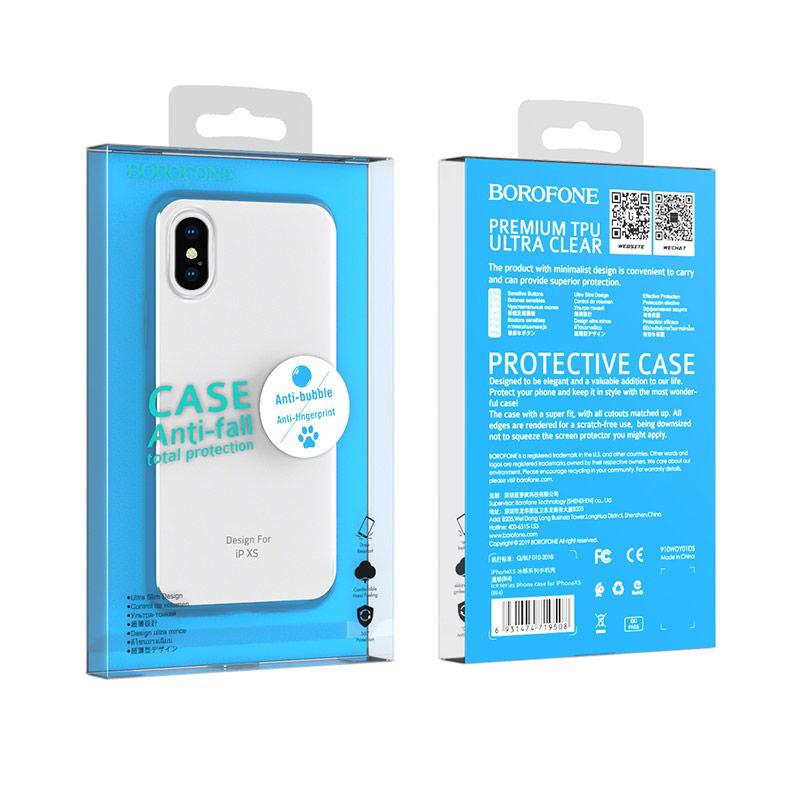 borofone ice series bi4 phone case for iphone xs package