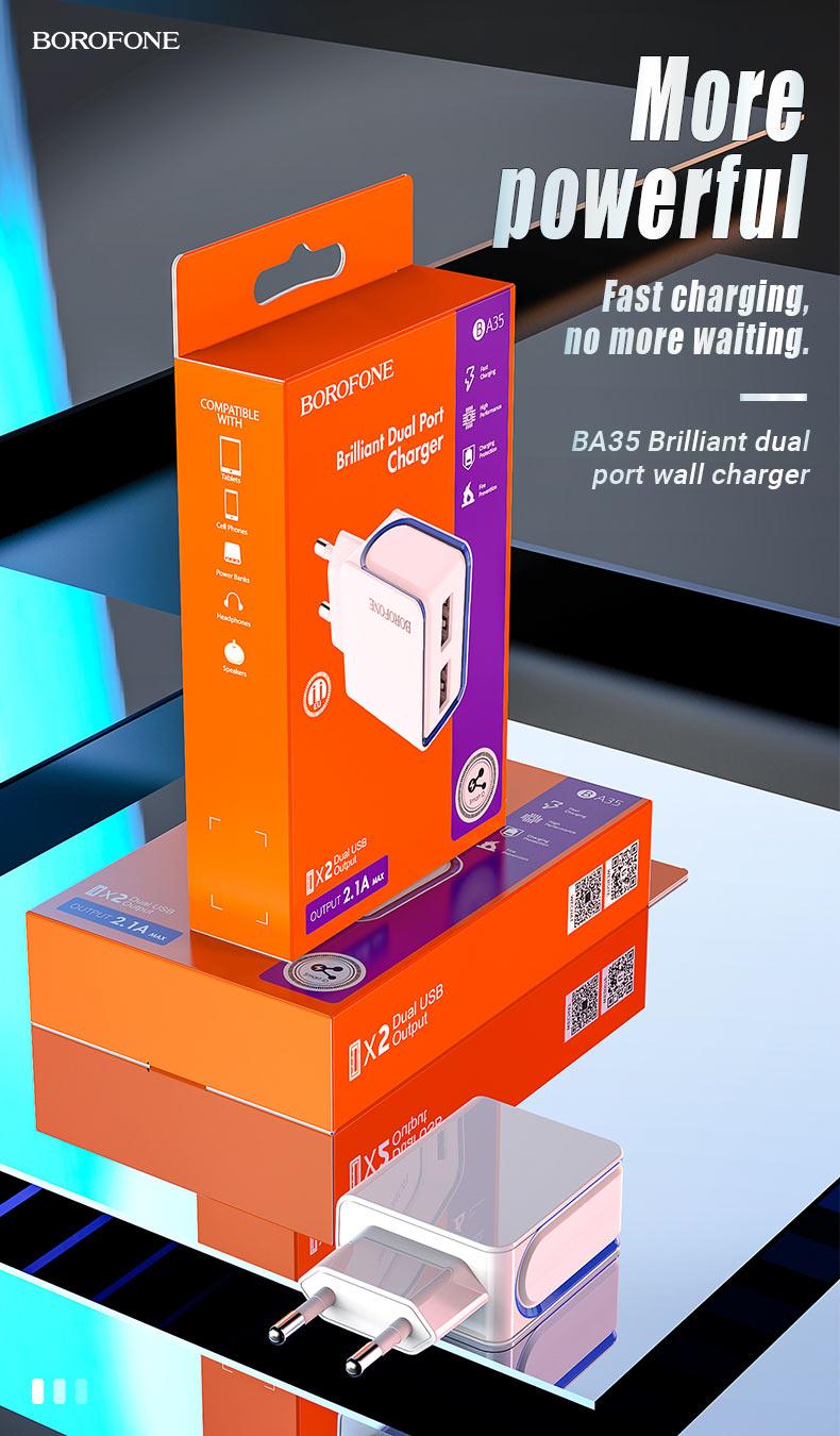 borofone news ba35 brilliant dual port wall charger en