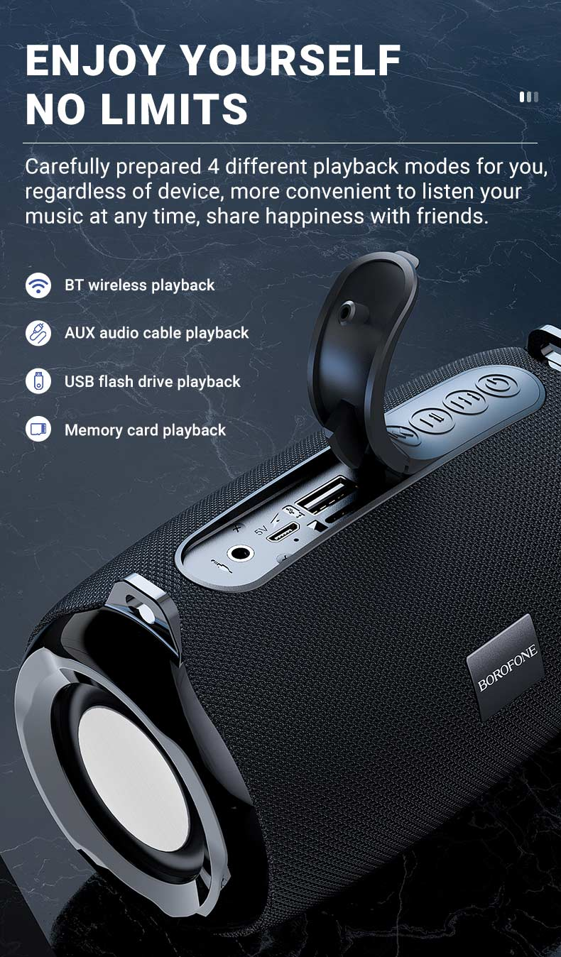 borofone news br4 horizon sports wireless speaker modes en