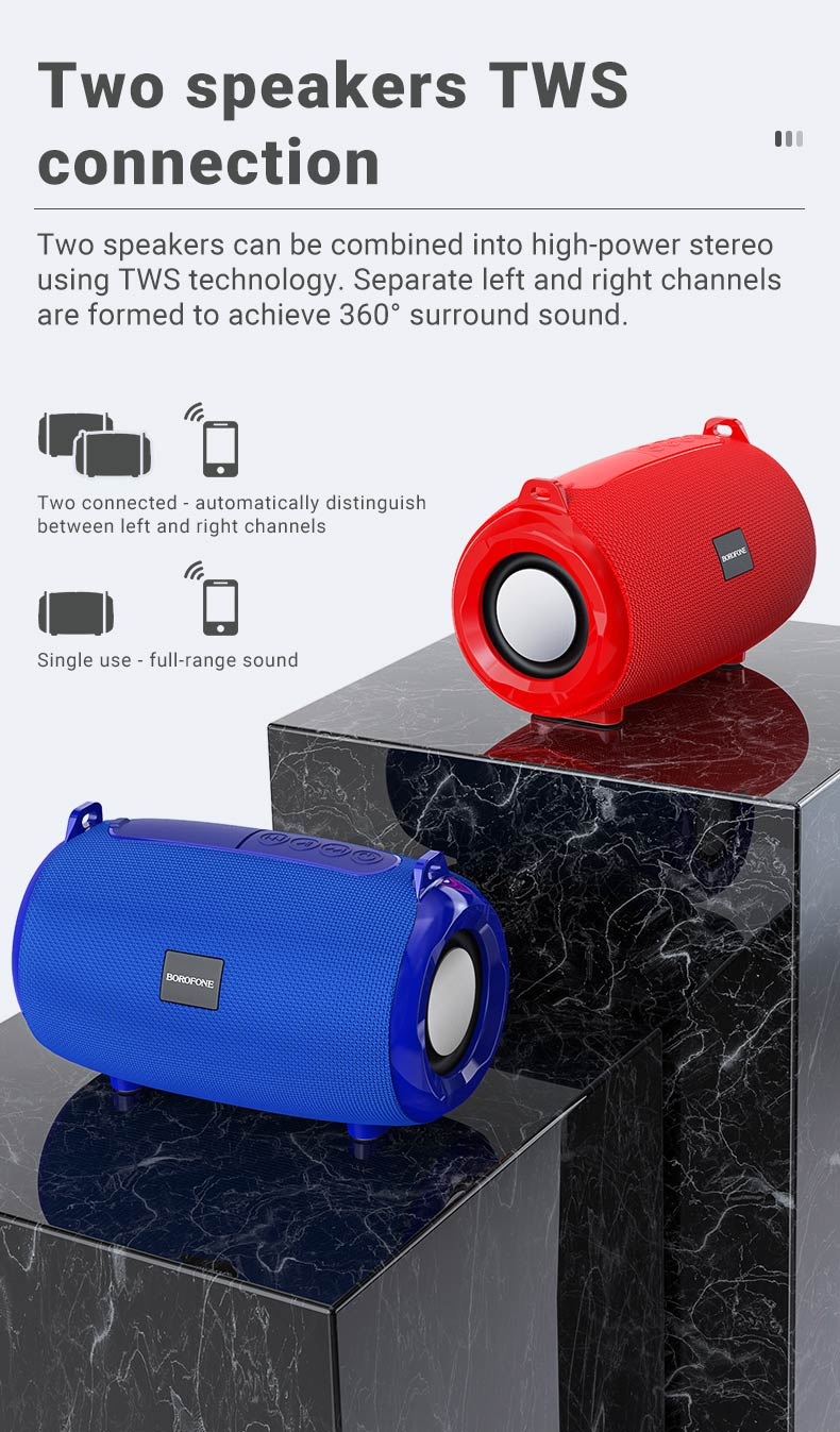 borofone news br4 horizon sports wireless speaker tws connection en