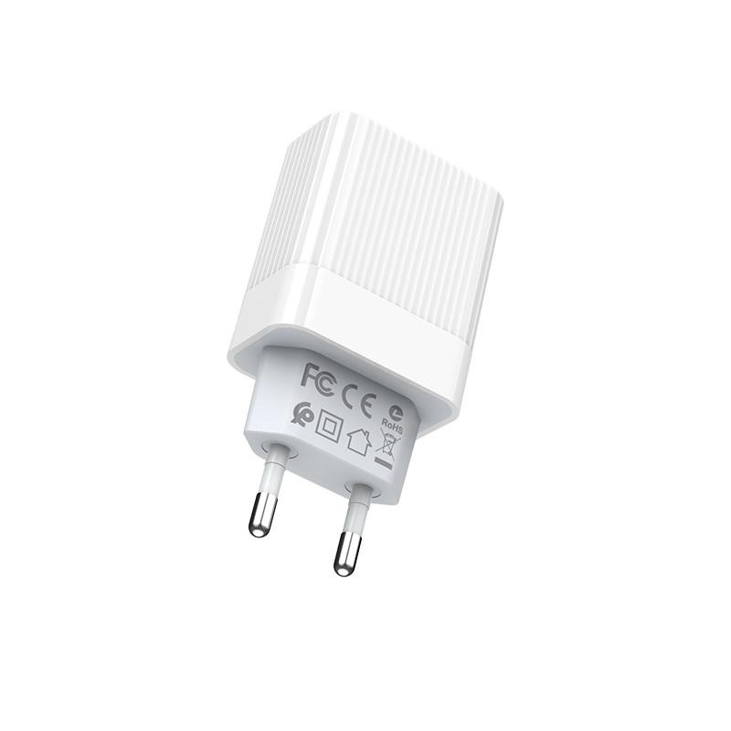 borofone ba39a speedway dual port qc3 charger eu pins